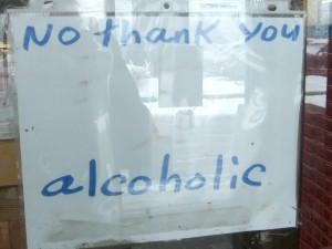 No thank you, alcoholic.