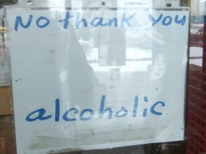 No thank you, alcoholic.